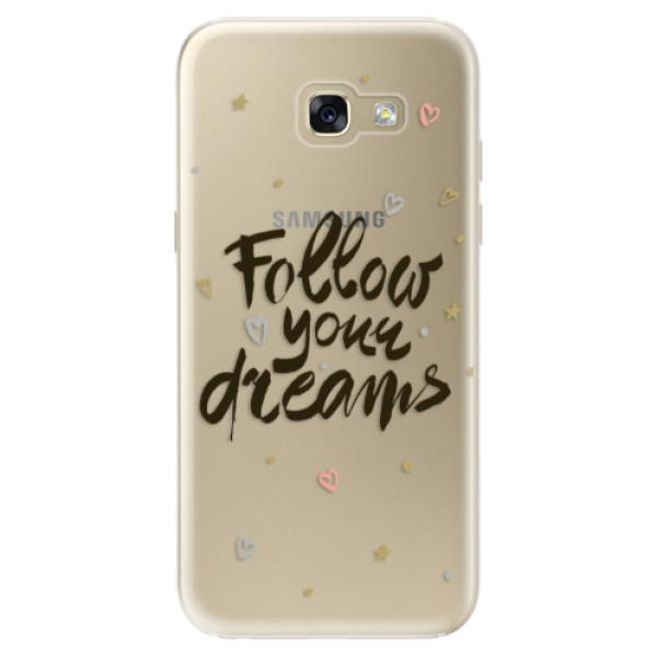Odolné silikónové puzdro iSaprio - Follow Your Dreams - black - Samsung Galaxy A5 2017