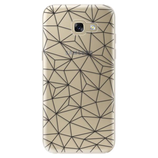 Odolné silikónové puzdro iSaprio - Abstract Triangles 03 - black - Samsung Galaxy A5 2017