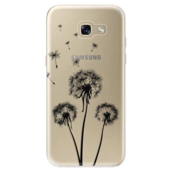 Odolné silikónové puzdro iSaprio - Three Dandelions - black - Samsung Galaxy A5 2017