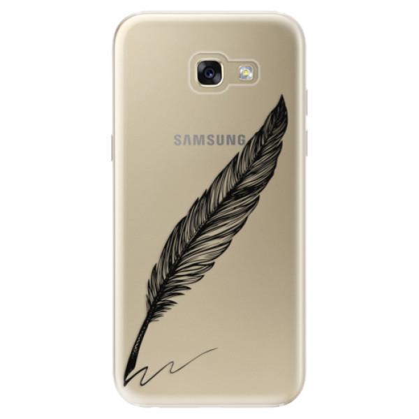 Odolné silikónové puzdro iSaprio - Writing By Feather - black - Samsung Galaxy A5 2017