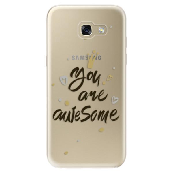 Odolné silikónové puzdro iSaprio - You Are Awesome - black - Samsung Galaxy A5 2017