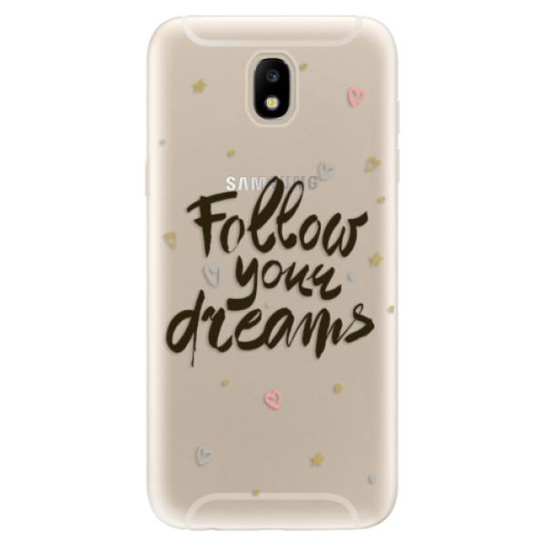 Odolné silikónové puzdro iSaprio - Follow Your Dreams - black - Samsung Galaxy J5 2017
