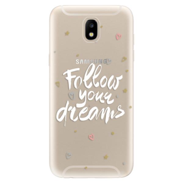 Odolné silikónové puzdro iSaprio - Follow Your Dreams - white - Samsung Galaxy J5 2017