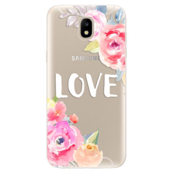 Odolné silikónové puzdro iSaprio - Love - Samsung Galaxy J5 2017