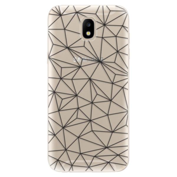 Odolné silikónové puzdro iSaprio - Abstract Triangles 03 - black - Samsung Galaxy J5 2017