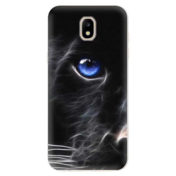 Odolné silikónové puzdro iSaprio - Black Puma - Samsung Galaxy J5 2017