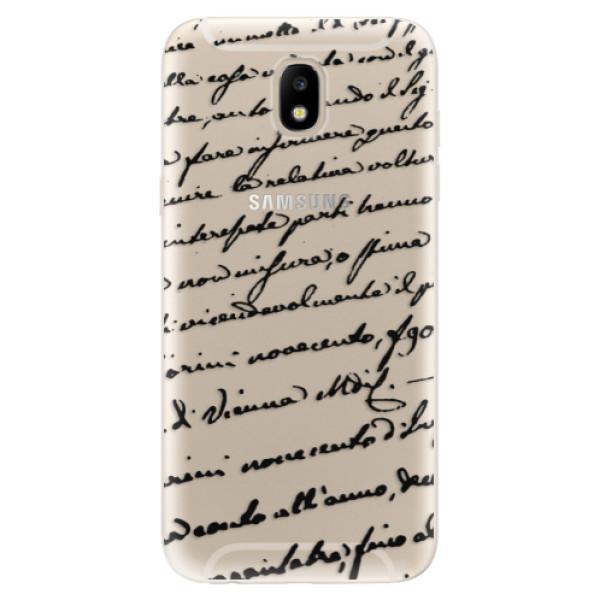 Odolné silikónové puzdro iSaprio - Handwriting 01 - black - Samsung Galaxy J5 2017