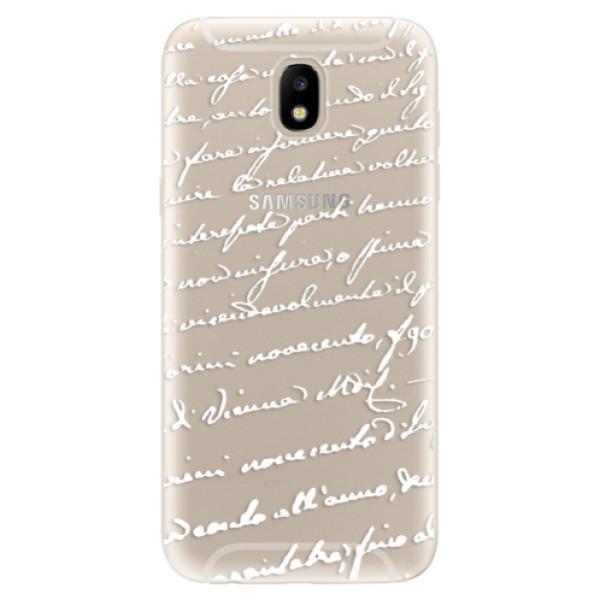 Odolné silikónové puzdro iSaprio - Handwriting 01 - white - Samsung Galaxy J5 2017