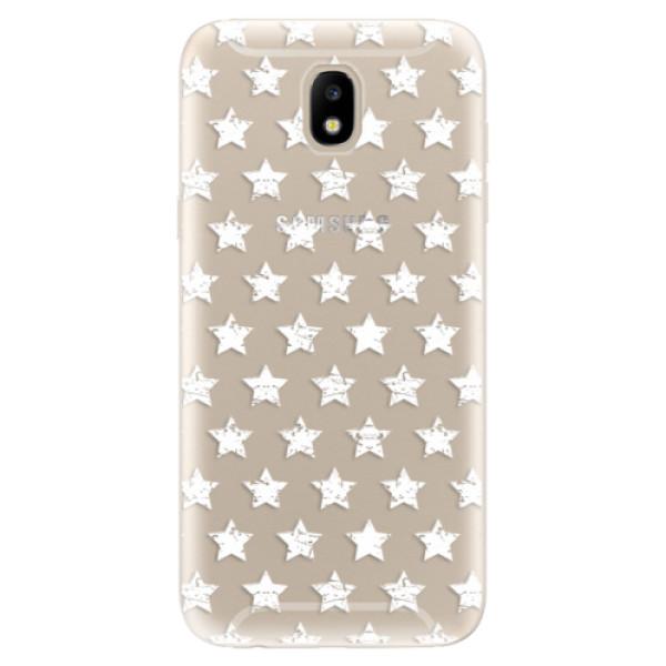 Odolné silikónové puzdro iSaprio - Stars Pattern - white - Samsung Galaxy J5 2017