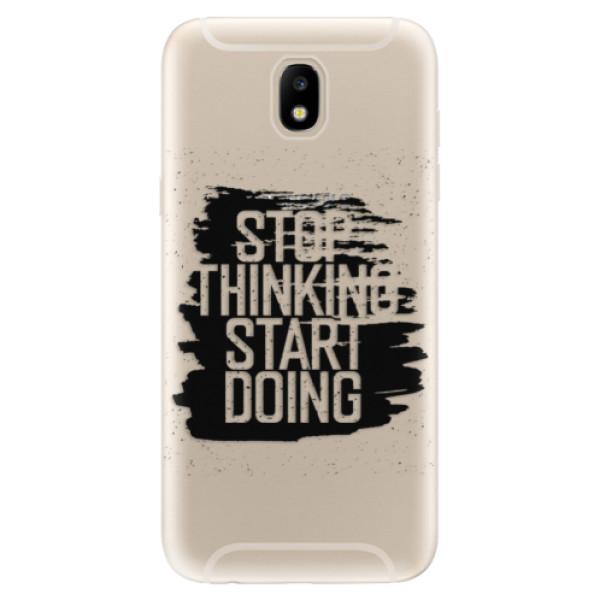 Odolné silikónové puzdro iSaprio - Start Doing - black - Samsung Galaxy J5 2017