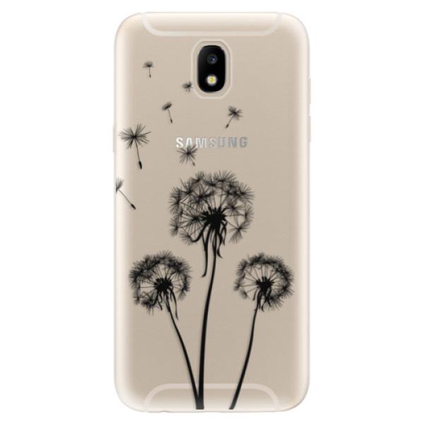 Odolné silikónové puzdro iSaprio - Three Dandelions - black - Samsung Galaxy J5 2017