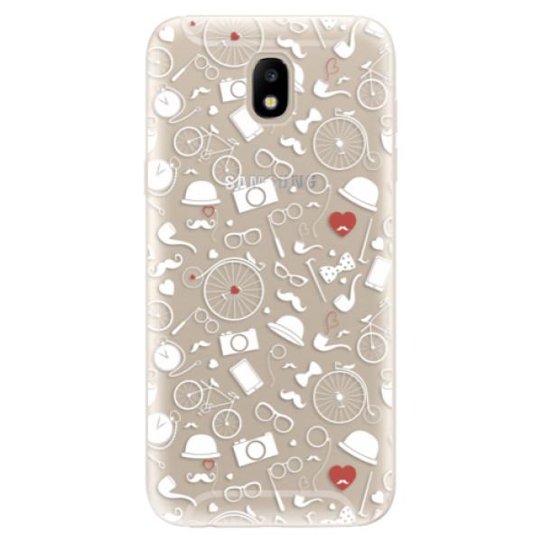 Odolné silikónové puzdro iSaprio - Vintage Pattern 01 - white - Samsung Galaxy J5 2017