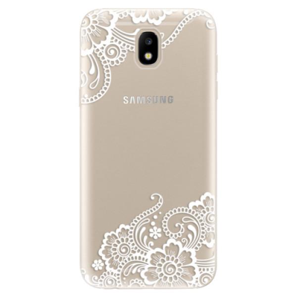 Odolné silikónové puzdro iSaprio - White Lace 02 - Samsung Galaxy J5 2017
