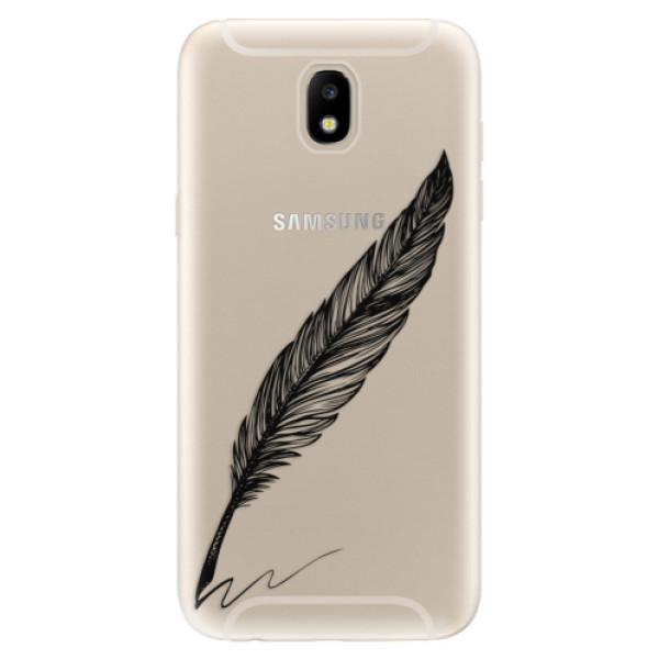 Odolné silikónové puzdro iSaprio - Writing By Feather - black - Samsung Galaxy J5 2017