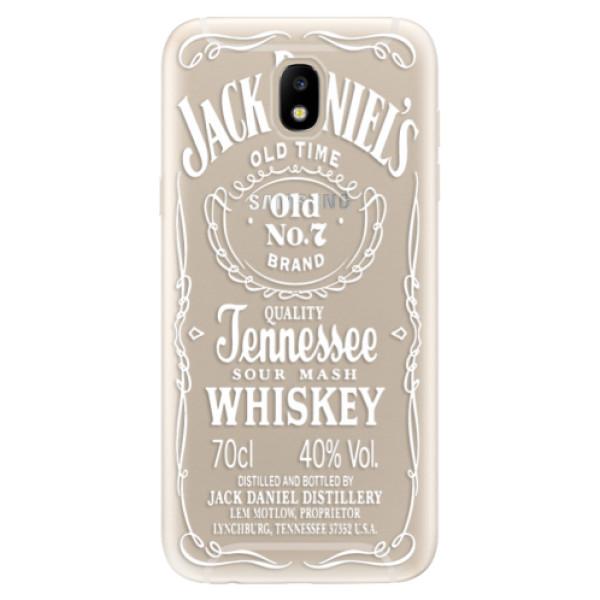 Odolné silikónové puzdro iSaprio - Transparent White Jack - Samsung Galaxy J5 2017