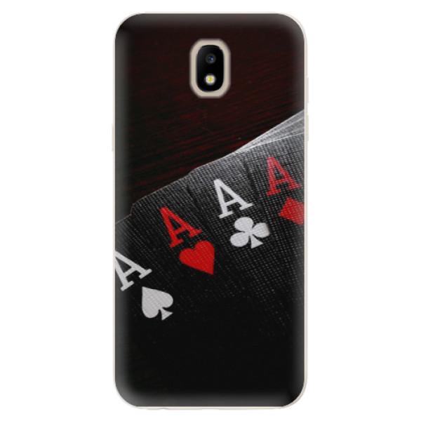 Odolné silikónové puzdro iSaprio - Poker - Samsung Galaxy J5 2017