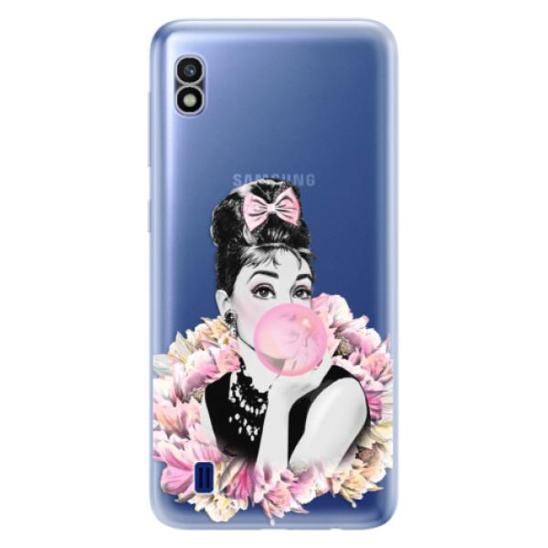 Odolné silikónové puzdro iSaprio - Pink Bubble - Samsung Galaxy A10
