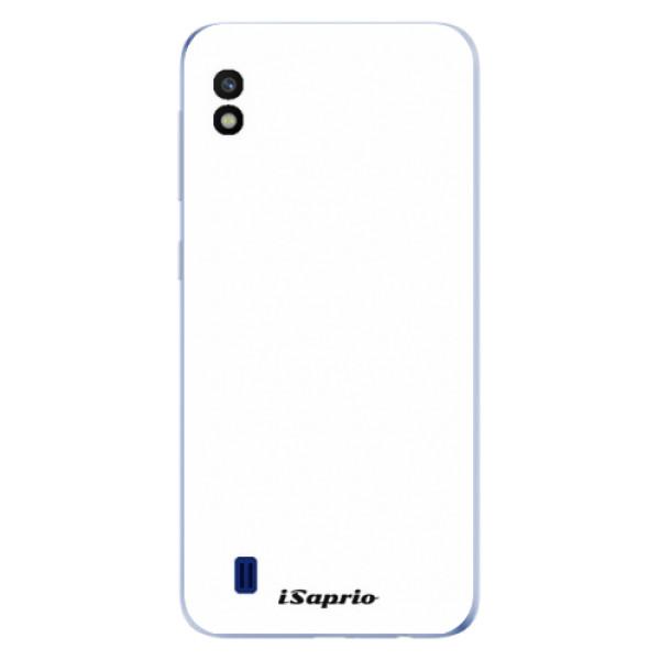 Odolné silikónové puzdro iSaprio - 4Pure - bílý - Samsung Galaxy A10
