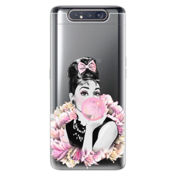 Odolné silikónové puzdro iSaprio - Pink Bubble - Samsung Galaxy A80