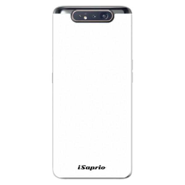 Odolné silikónové puzdro iSaprio - 4Pure - bílý - Samsung Galaxy A80