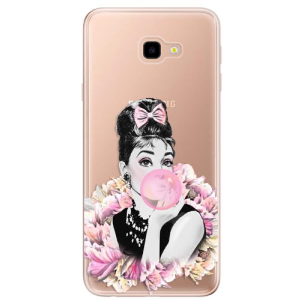 Odolné silikónové puzdro iSaprio - Pink Bubble - Samsung Galaxy J4+