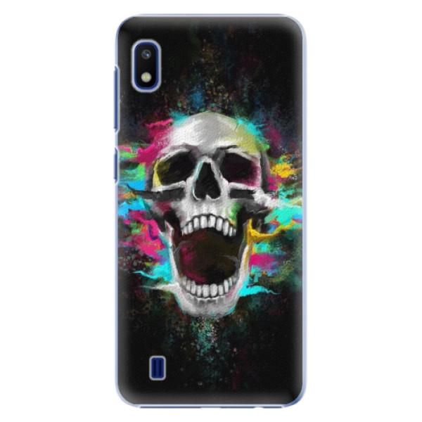 Plastové puzdro iSaprio - Skull in Colors - Samsung Galaxy A10