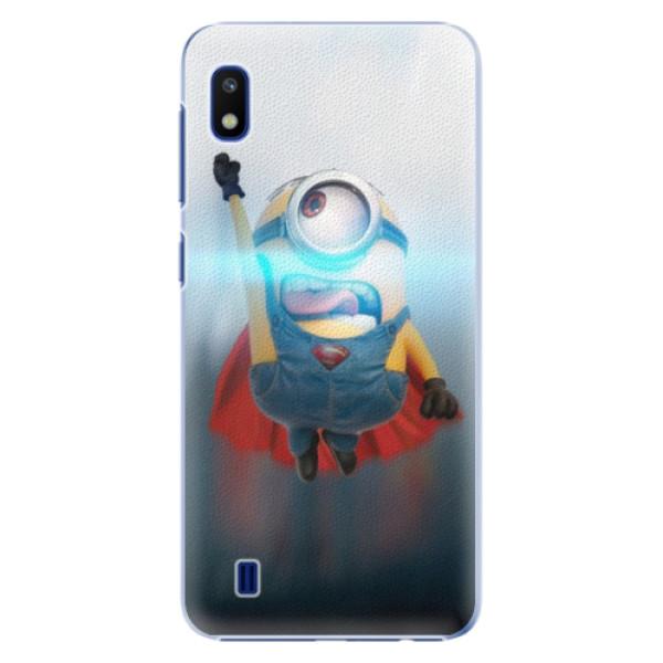 Plastové puzdro iSaprio - Mimons Superman 02 - Samsung Galaxy A10
