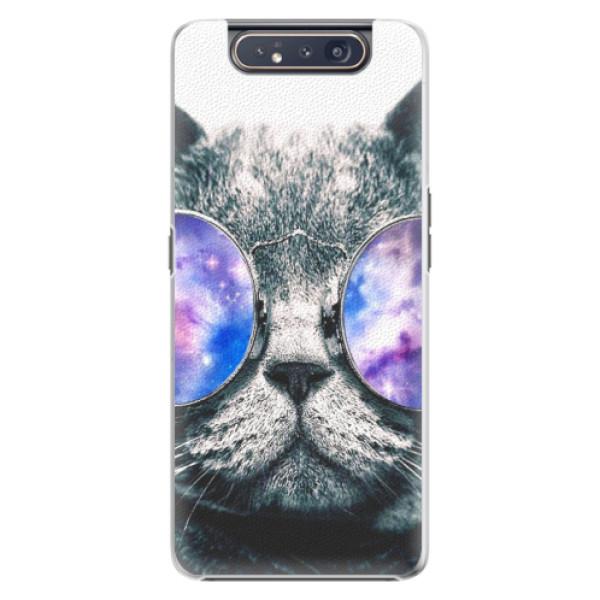 Plastové puzdro iSaprio - Galaxy Cat - Samsung Galaxy A80