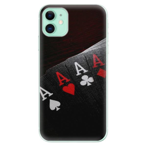 Odolné silikónové puzdro iSaprio - Poker - iPhone 11