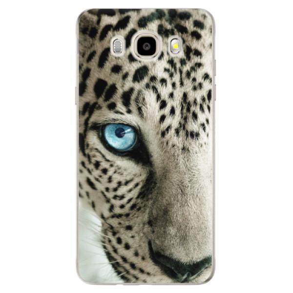 Odolné silikónové puzdro iSaprio - White Panther - Samsung Galaxy J5 2016