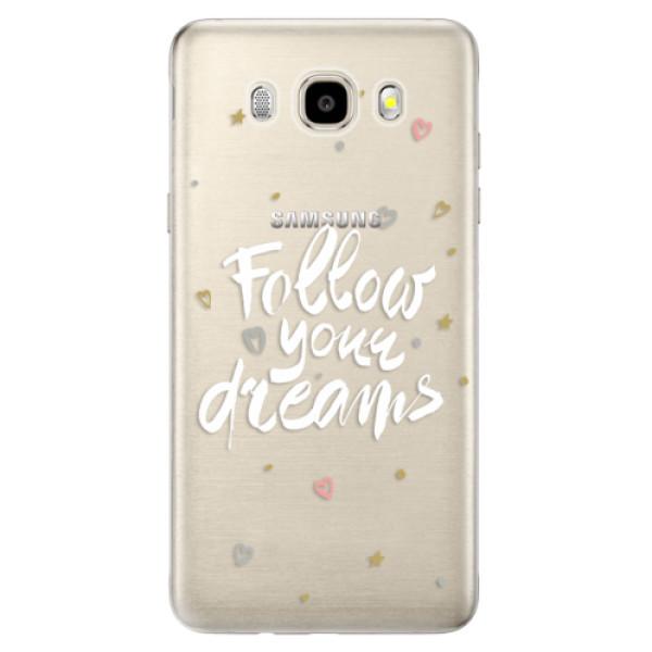 Odolné silikónové puzdro iSaprio - Follow Your Dreams - white - Samsung Galaxy J5 2016