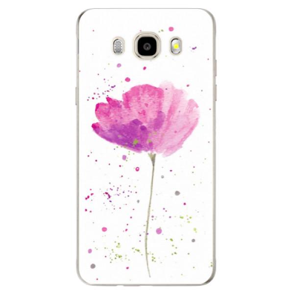 Odolné silikónové puzdro iSaprio - Poppies - Samsung Galaxy J5 2016