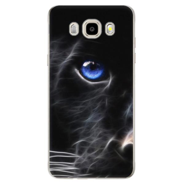 Odolné silikónové puzdro iSaprio - Black Puma - Samsung Galaxy J5 2016