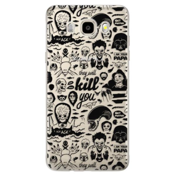 Odolné silikónové puzdro iSaprio - Comics 01 - black - Samsung Galaxy J5 2016