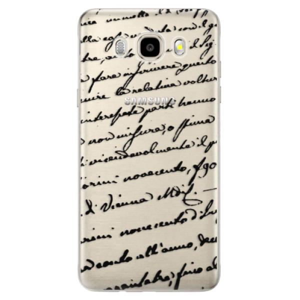 Odolné silikónové puzdro iSaprio - Handwriting 01 - black - Samsung Galaxy J5 2016