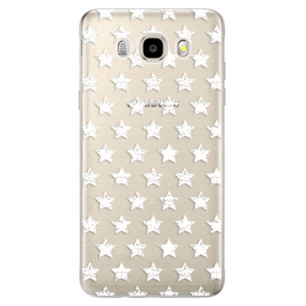 Odolné silikónové puzdro iSaprio - Stars Pattern - white - Samsung Galaxy J5 2016