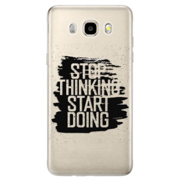 Odolné silikónové puzdro iSaprio - Start Doing - black - Samsung Galaxy J5 2016