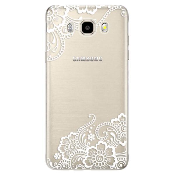 Odolné silikónové puzdro iSaprio - White Lace 02 - Samsung Galaxy J5 2016