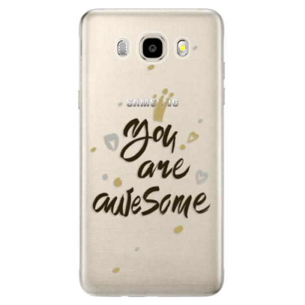 Odolné silikónové puzdro iSaprio - You Are Awesome - black - Samsung Galaxy J5 2016