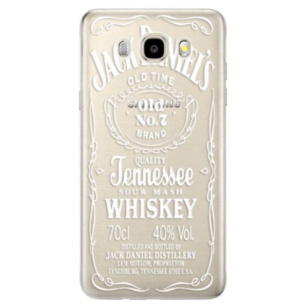 Odolné silikónové puzdro iSaprio - Transparent White Jack - Samsung Galaxy J5 2016