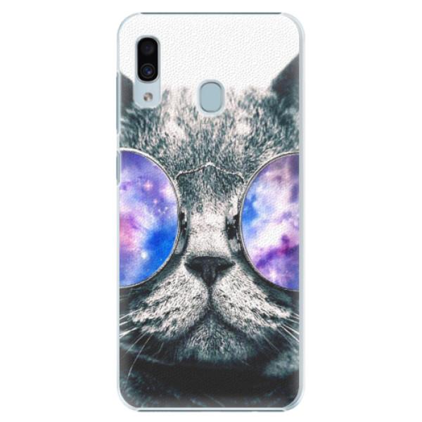 Plastové puzdro iSaprio - Galaxy Cat - Samsung Galaxy A20
