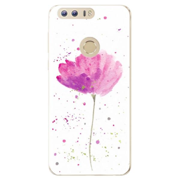 Odolné silikónové puzdro iSaprio - Poppies - Huawei Honor 8