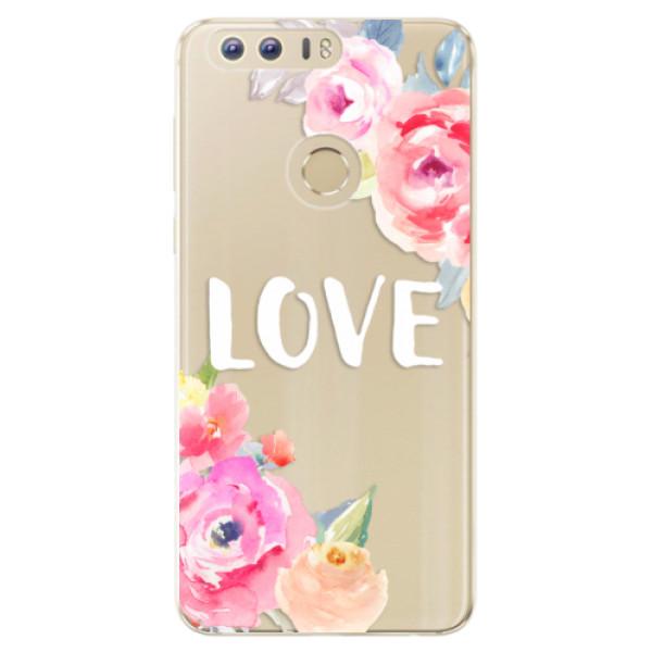 Odolné silikónové puzdro iSaprio - Love - Huawei Honor 8