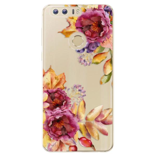 Odolné silikónové puzdro iSaprio - Fall Flowers - Huawei Honor 8