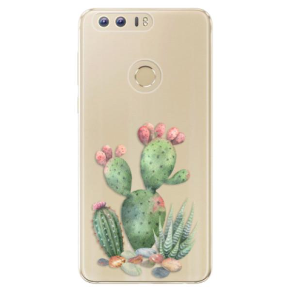 Odolné silikónové puzdro iSaprio - Cacti 01 - Huawei Honor 8