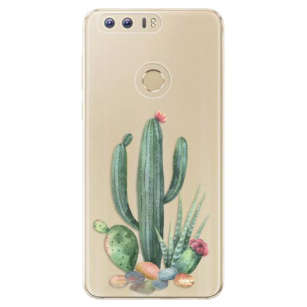 Odolné silikónové puzdro iSaprio - Cacti 02 - Huawei Honor 8