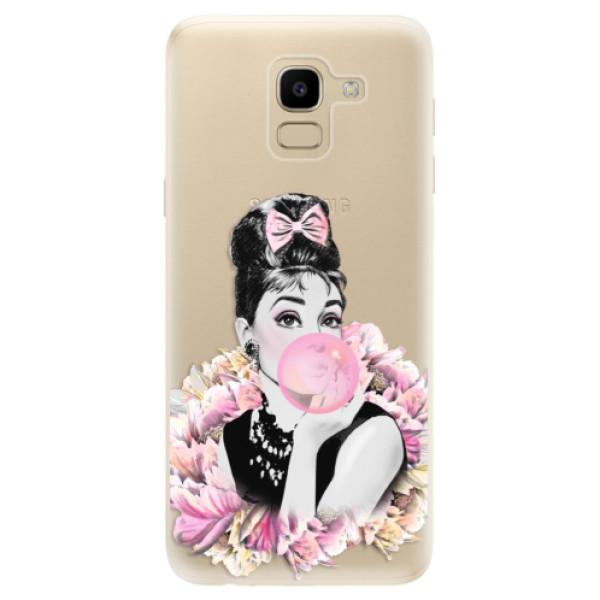 Odolné silikónové puzdro iSaprio - Pink Bubble - Samsung Galaxy J6