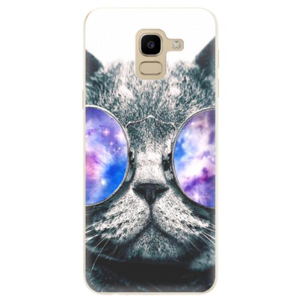 Odolné silikónové puzdro iSaprio - Galaxy Cat - Samsung Galaxy J6