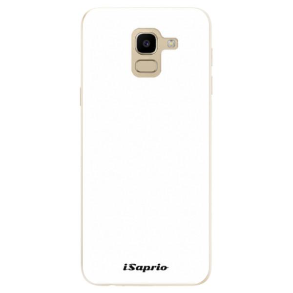 Odolné silikónové puzdro iSaprio - 4Pure - bílý - Samsung Galaxy J6