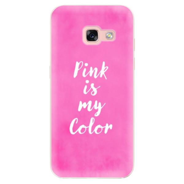 Odolné silikónové puzdro iSaprio - Pink is my color - Samsung Galaxy A3 2017